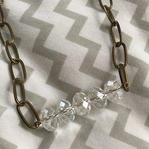 Jewelry - Clear Beaded Chain Necklace